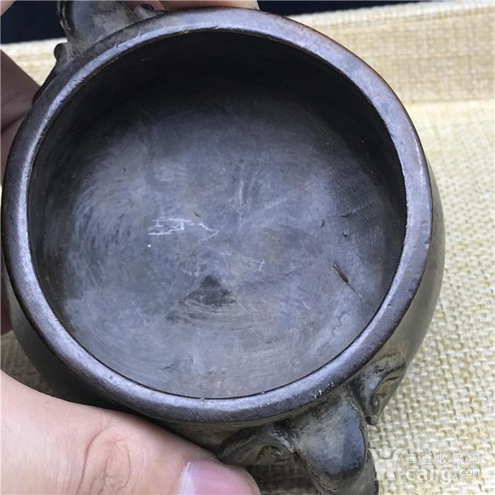 日本回流  铜器  象头鼎图5