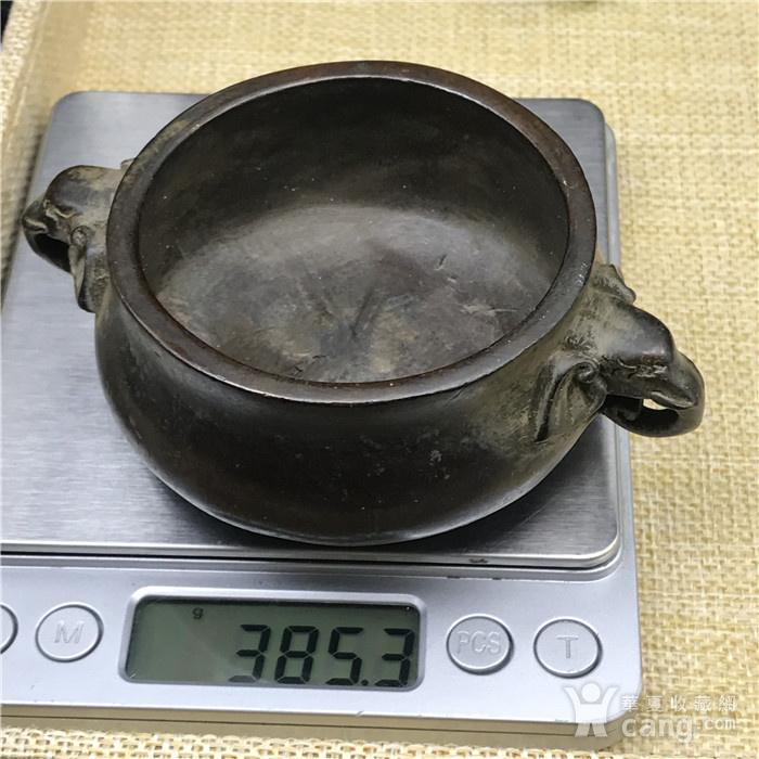日本回流  铜器  象头鼎图9