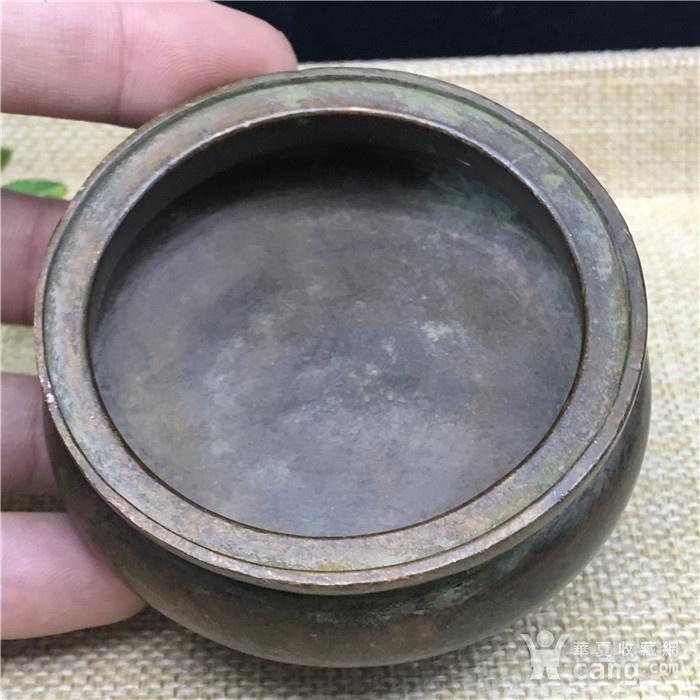 日本回流 铜器  三足香炉图2