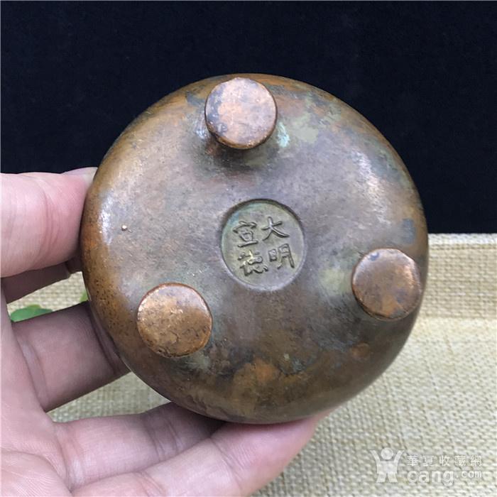 日本回流 铜器  三足香炉图4