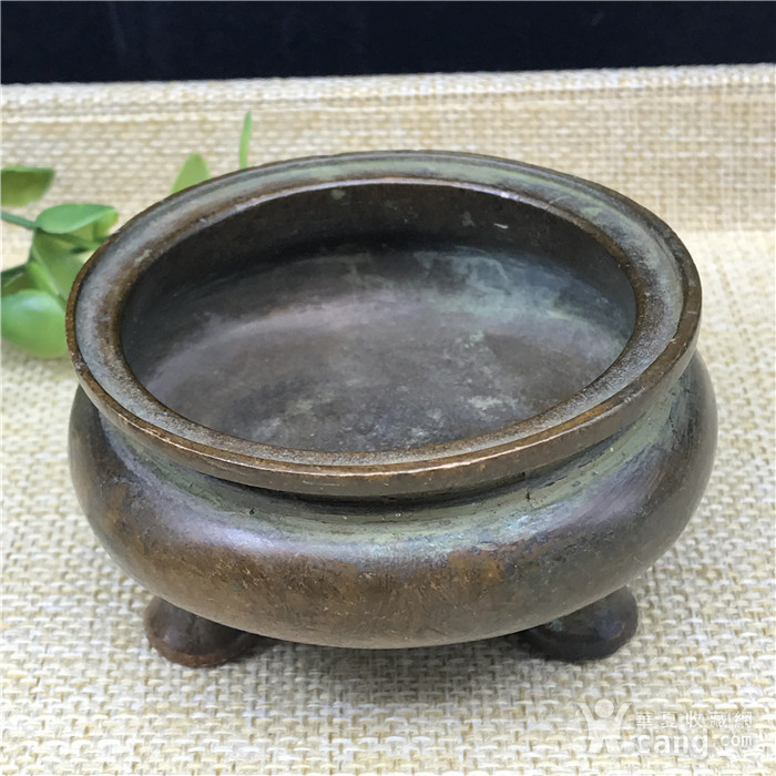 日本回流 铜器  三足香炉图1
