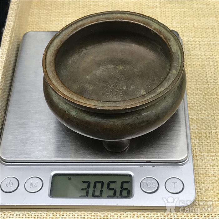 日本回流 铜器  三足香炉图10