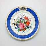 欧洲 花卉纹赏盘c87v2