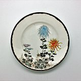 日本 粉彩花纹盘c88v1