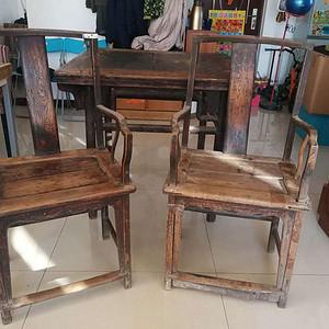 清代榆木桌椅一套
