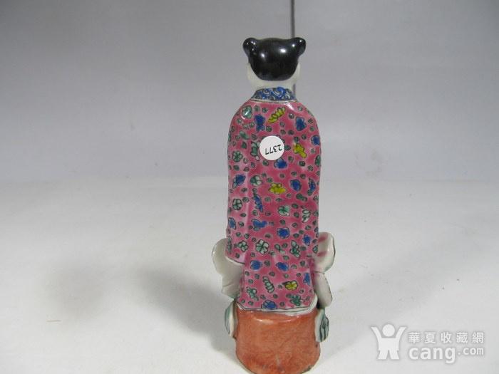 民国粉彩人物纹瓷塑图4