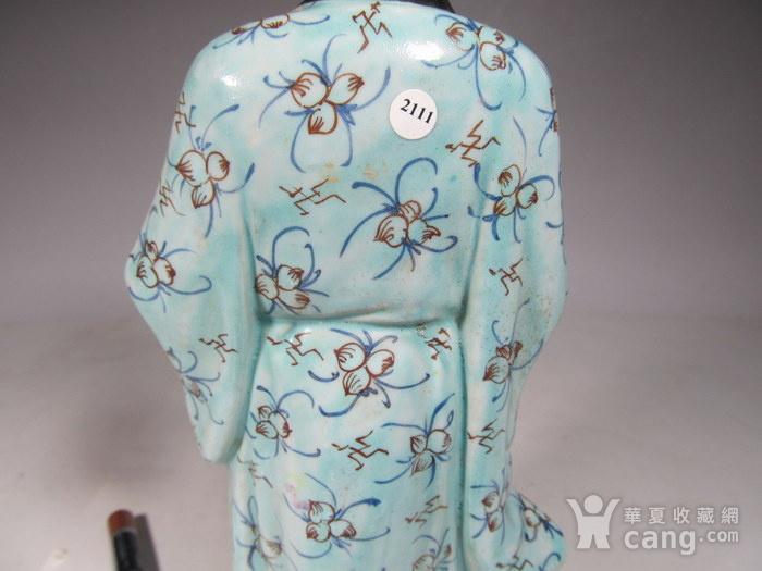 民国粉彩人物纹瓷塑图10
