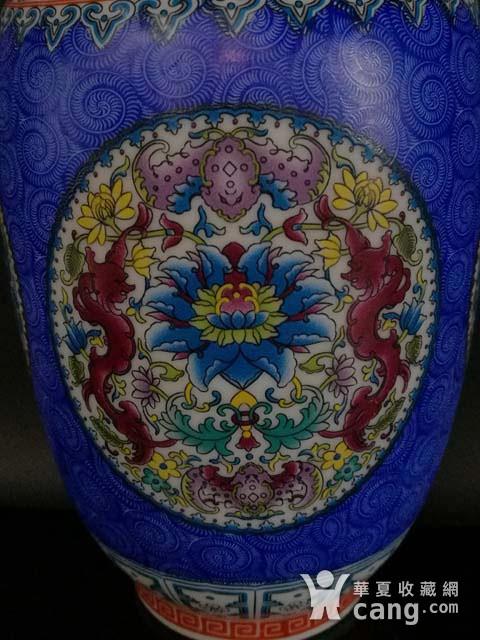 珐琅彩花卉纹瓶图6