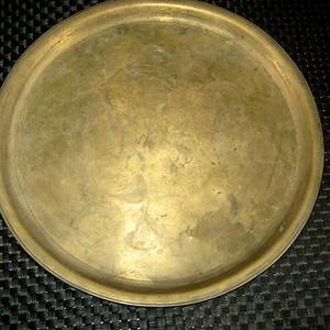 清代老铜盘