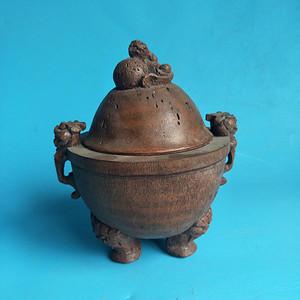 联盟 老物件 竹雕大炉