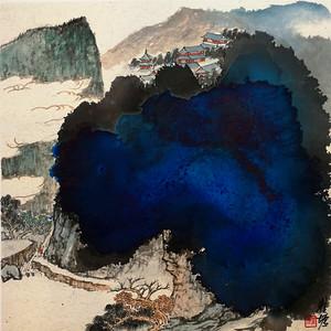 中国美术学院名家  瞿塘  山居图