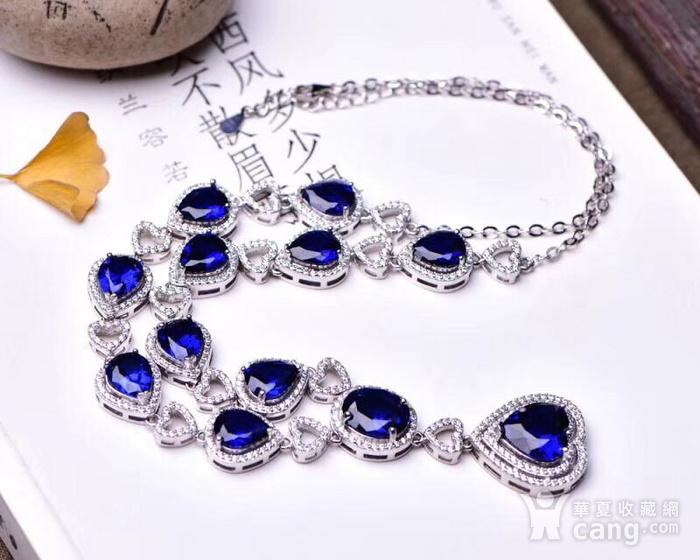 蓝宝石项链图1
