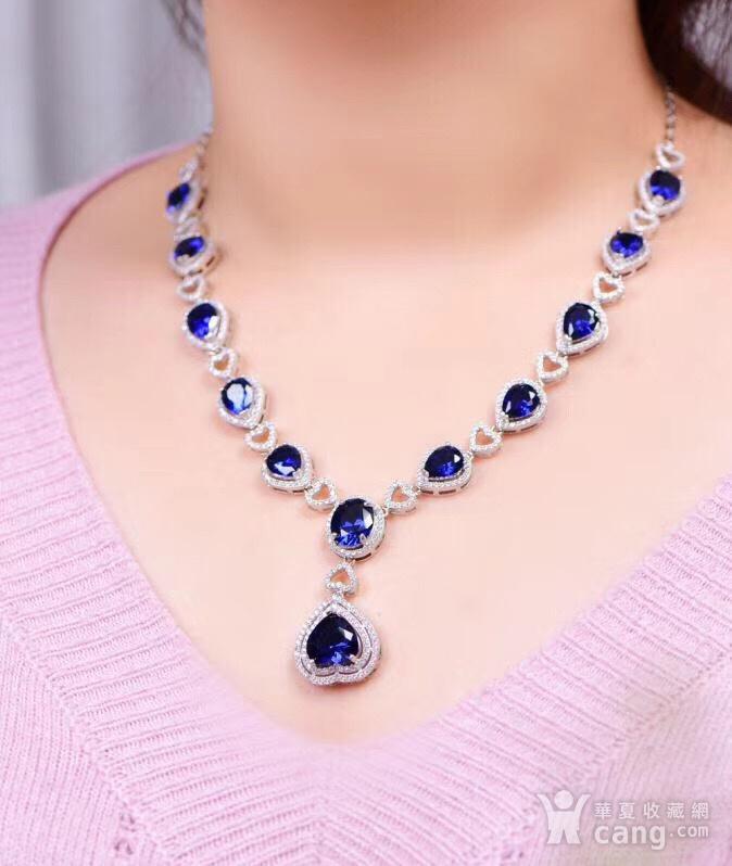蓝宝石项链图4