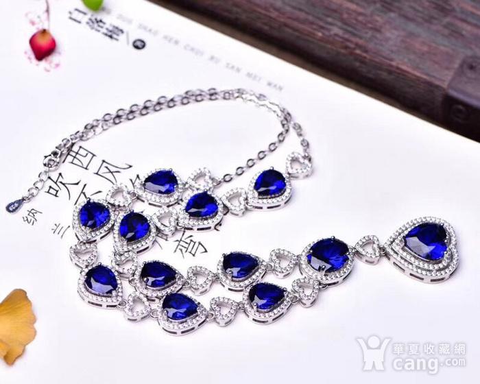 蓝宝石项链图6