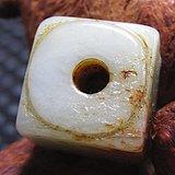 明 和田玉 玉棕 挂件 玉质润泽 包浆厚重