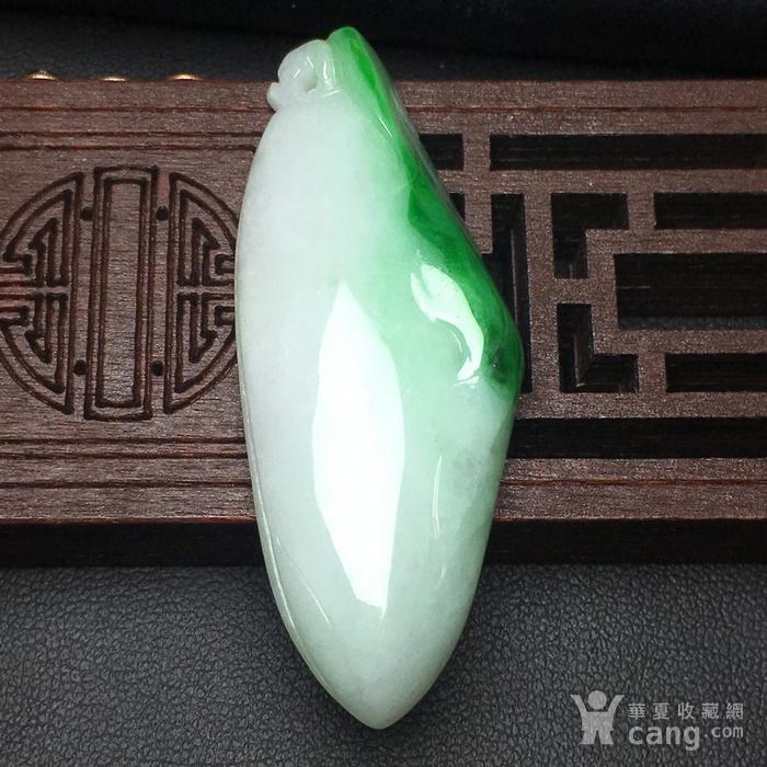 带辣绿精品翡翠福瓜挂件图5