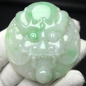 精品级冰糯带绿完美龙头皮带扣