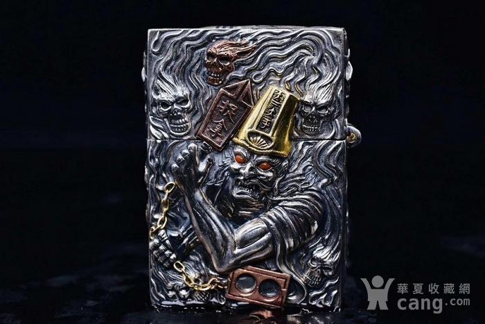 黑白无常纯银镶嵌宝石打火机 原装ZP机芯图1