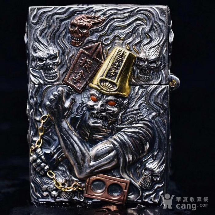 黑白无常纯银镶嵌宝石打火机 原装ZP机芯图5