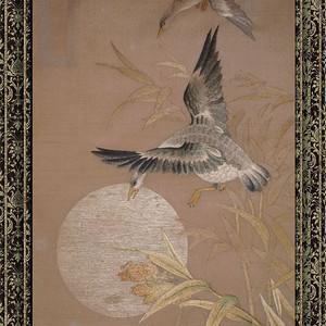 民国 手工刺绣 卢雁