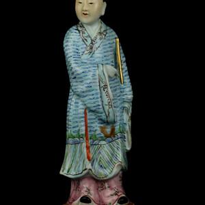 21民国粉彩八仙人物瓷塑
