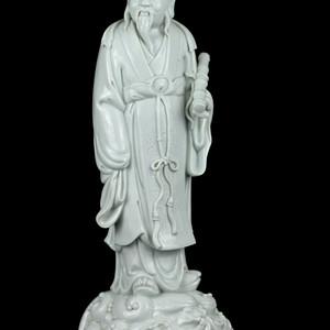 43清晚德化窑白釉人物瓷像