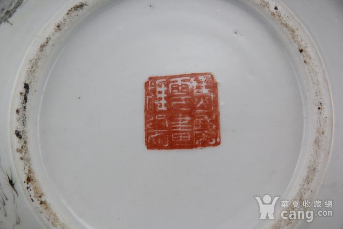 59清晚马庆云款浅降彩人物纹罐图12
