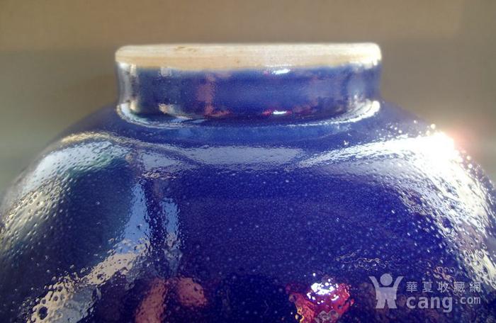 清中期 内窑变红釉外霁蓝釉二色釉折沿碗图6