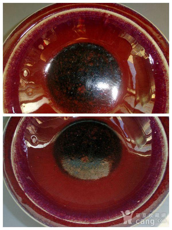 清中期 内窑变红釉外霁蓝釉二色釉折沿碗图11