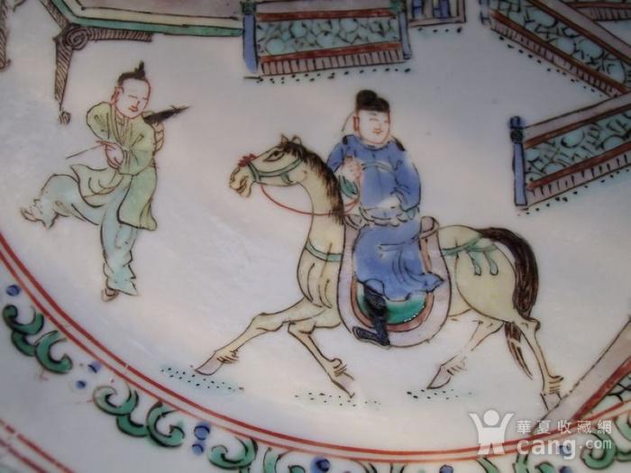 清康熙五彩西厢记故事人物纹折腰盘图9