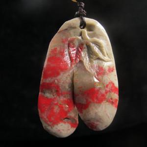 收藏精品 经典老坑昌化鸡血石挂件3613