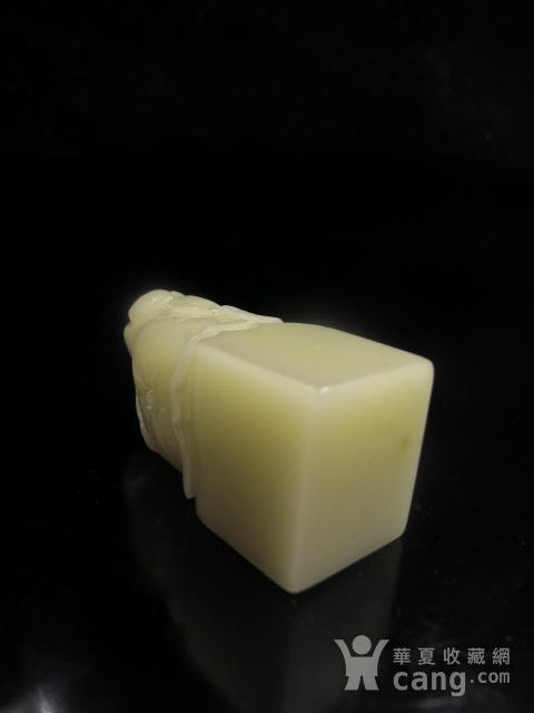 特恵 寿山羊脂地巧色芙蓉石大章3009 结晶体芙蓉图10