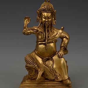 欧洲回流铜鎏金财神