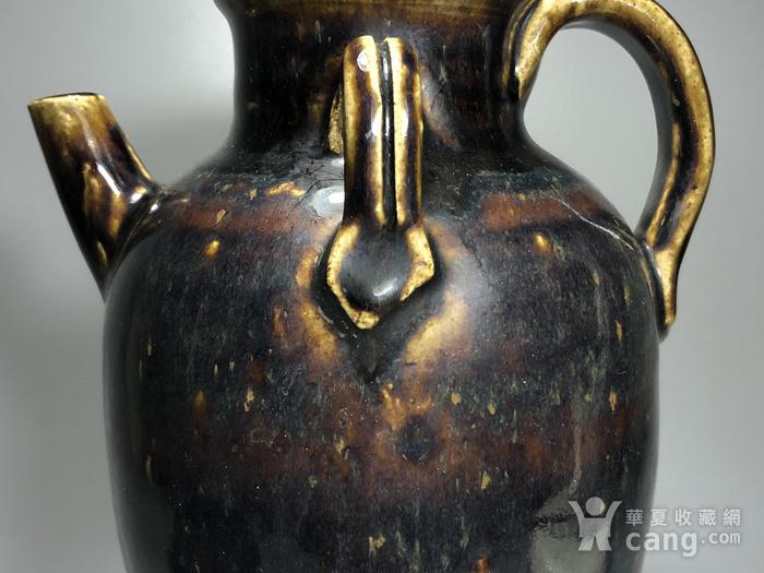 精品 收藏级压轴高古瓷 宋 磁州窑褐釉持壶图4