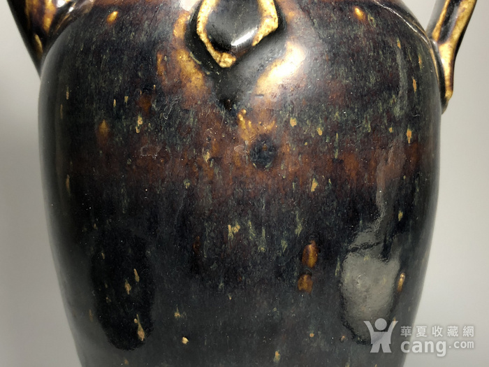 精品 收藏级压轴高古瓷 宋 磁州窑褐釉持壶图5