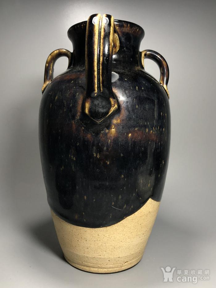 精品 收藏级压轴高古瓷 宋 磁州窑褐釉持壶图11