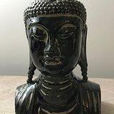 9050 建国初瓷雕释迦摩尼头像