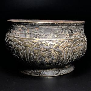 精品 收藏级 清代满工铜香炉一件
