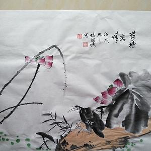 国家一级书画师张国顺4尺斗方国画作品