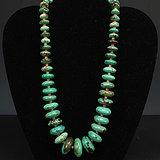 天然绿松石镶嵌珊瑚项链