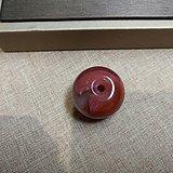 南红玛瑙紫色缠丝纹鼓珠