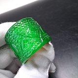 帝王绿翡翠扳指