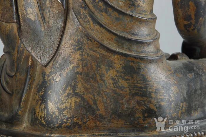 清 铜泥金释迦牟尼佛图8