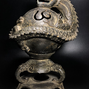 精品重器 清代铜龙戏珠香薰