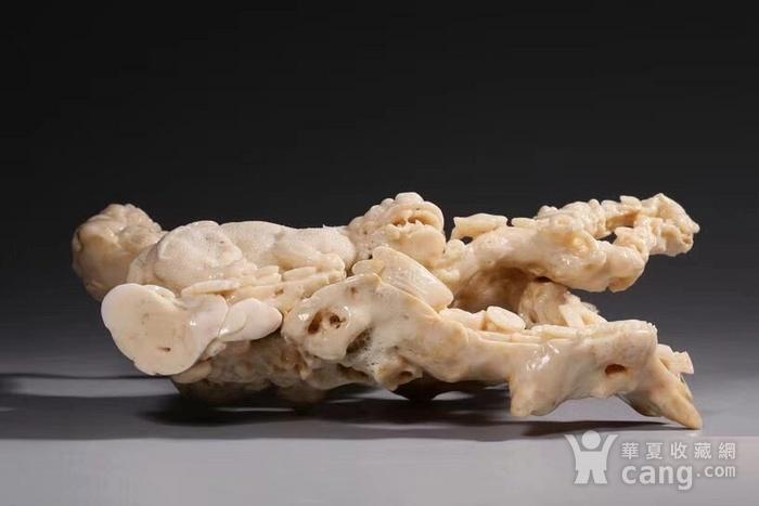 白珊瑚精雕太狮少狮摆件图3