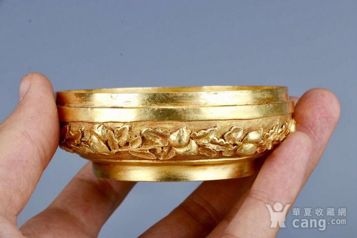 旧藏银鎏金祝寿盖盒图8
