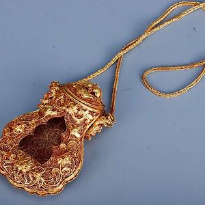 旧藏银鎏金佛龛
