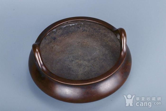 旧藏铜胎凤耳香炉图4