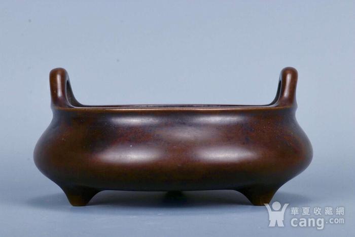 旧藏铜胎凤耳香炉图3