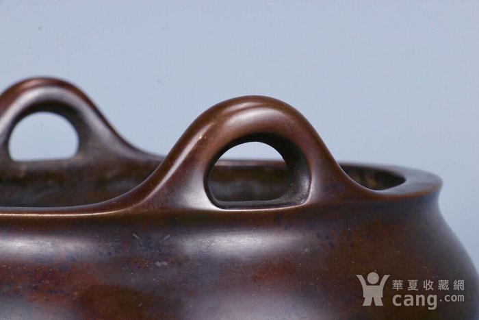 旧藏铜胎凤耳香炉图5